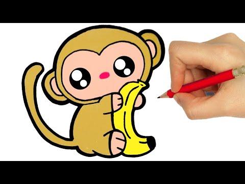 How To Draw A Monkey Como Desenhar Um Macaco Youtube