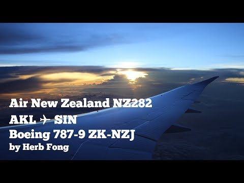 COLOURFUL SUNRISE | Air New Zealand Boeing 787-9 on NZ282 AKL ✈ SIN