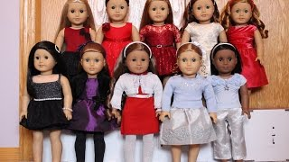 Dressing my AG dolls into their Christmas Outfits! {2014}