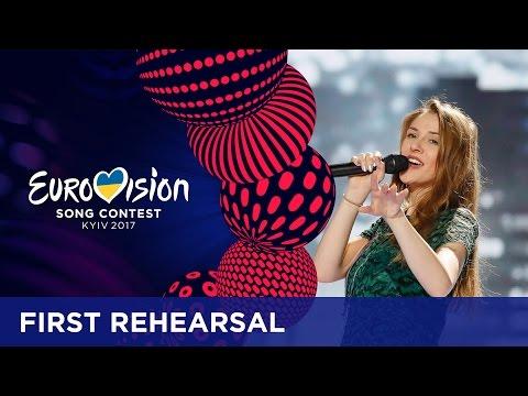 Jana Burčeska - Dance Alone (F.Y.R. Macedonia) First Rehearsal in Kyiv