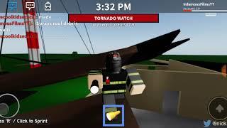 MONSTER EF-4 HITS FIRE STATION!! Servicios de Emergencia de Roblox Ep.2o
