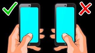 То, как вы держите телефон, влияет на уровень сигнала