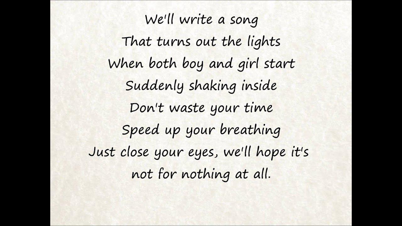 We The Kings Secret Valentine Lyrics Youtube