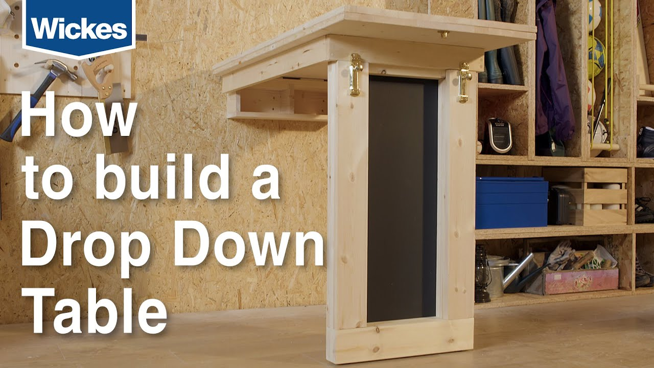 how to build a wall mounted down drop table with wickes