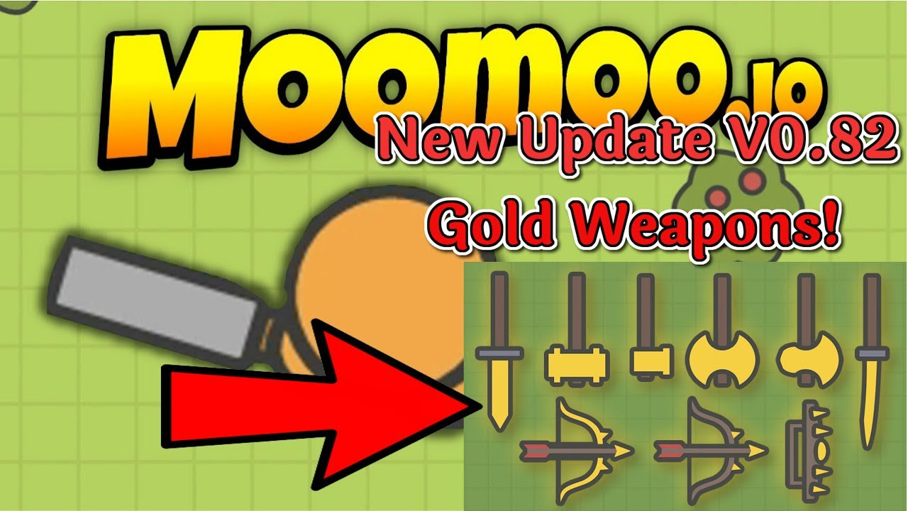 moomoo.io how to get gold and diamond weapons