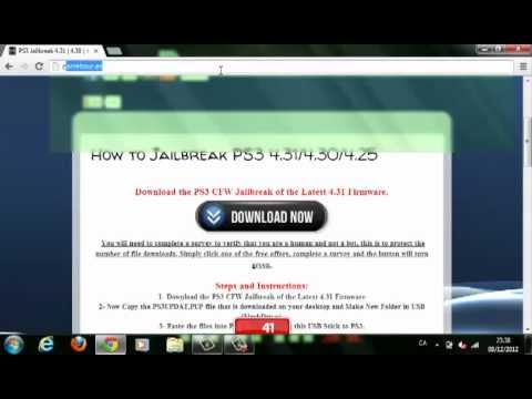 How to download Jailbreak for PS3 4.31, 4.30, 4.25