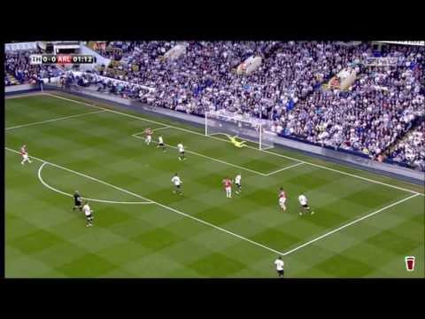 Tomas Rosicky goal vs Tottenham HD (0-1) (with Martin Tyler commentary) 4/3/14