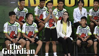 'A miracle moment': Thai football team describe being found