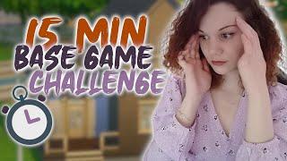Une maison jeu de base en 15min ?! ⏲️🧱 || CHALLENGE SIMS 4