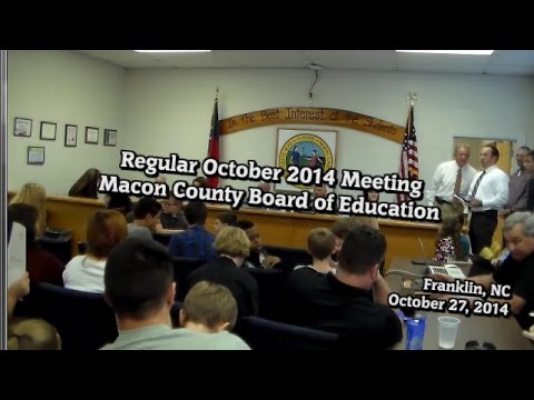 Macon Co Board of Education October 2014