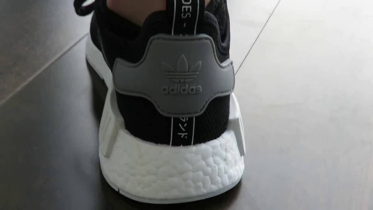 Adidas NMD Review Black: gris sobre pies YouTube