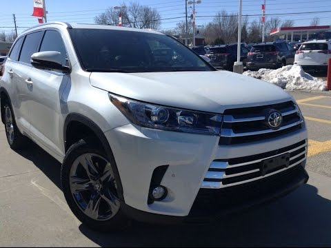 New 2017 Toyota Highlander Limited Awd Full Review Blizzard Pearl 1000 Islands Brockville
