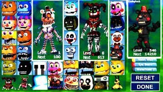 FNAF 6 ANIMATRONICS in Fnaf World Mod! #Fnaf (Final Boss)