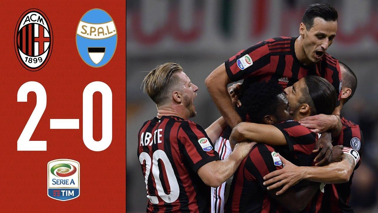 One Goal Per Each Half At San Siro Ac Milan Spal 2 0