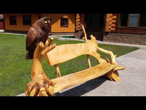 Резные скамейки из дерева своими руками