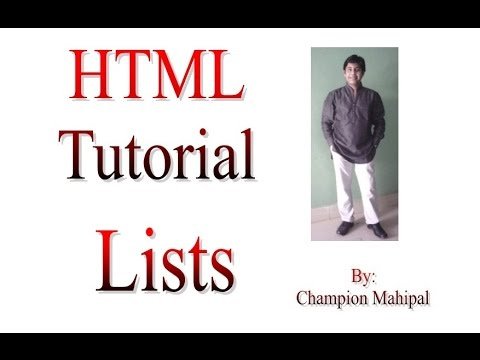 Learn HTML Tutorial 14 ordered and unordered list with example