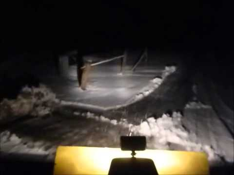 Snow fun / night plowing with the 1959 gravely walk behind