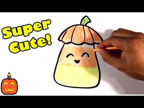 How to Draw Cute Candy Corn - Cute Halloween Version ...