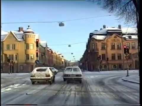 Rundtur med bil i Örebro 1992-01-05