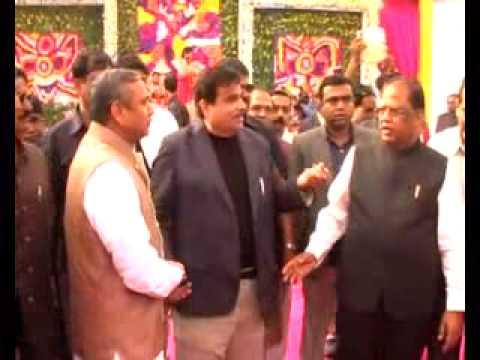 Nitin Gadkari Ji in Bilaspur Chhattisgarh to Attend in a High Profile Wedding Ceremony