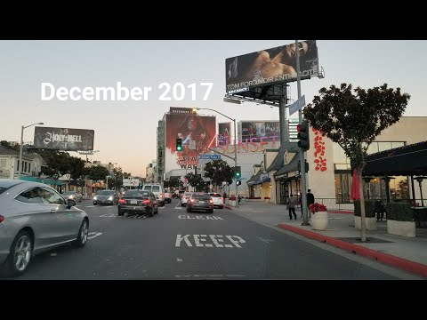 West Hollywood​ Billboard Row Monthly Update. December 2017. Dashcam Tours 🚘