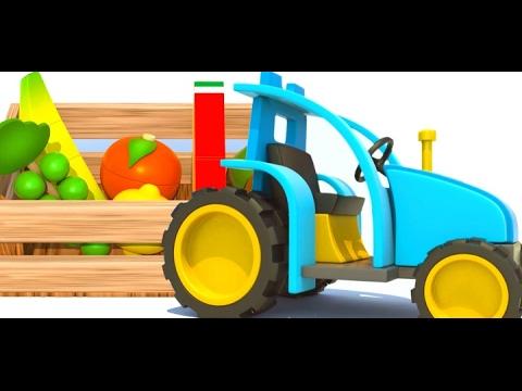 Dessin anim avec le tracteur et les fruits apprends les fruits youtube - Tom le tracteur dessin anime ...