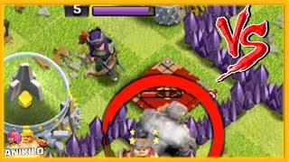 GOLEM vs REINA - ATACANDO TU ALDEA TH 9 #52 - CLASH OF CLANS