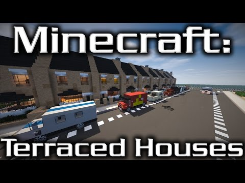 Minecraft: British Terraced Houses (Timelapse)