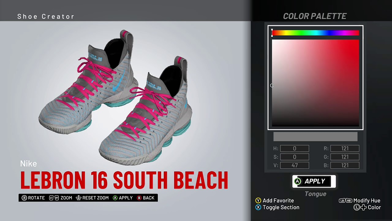 new concept f7306 571fa NBA 2K19 Shoe Creator - Nike LeBron 16 Custom