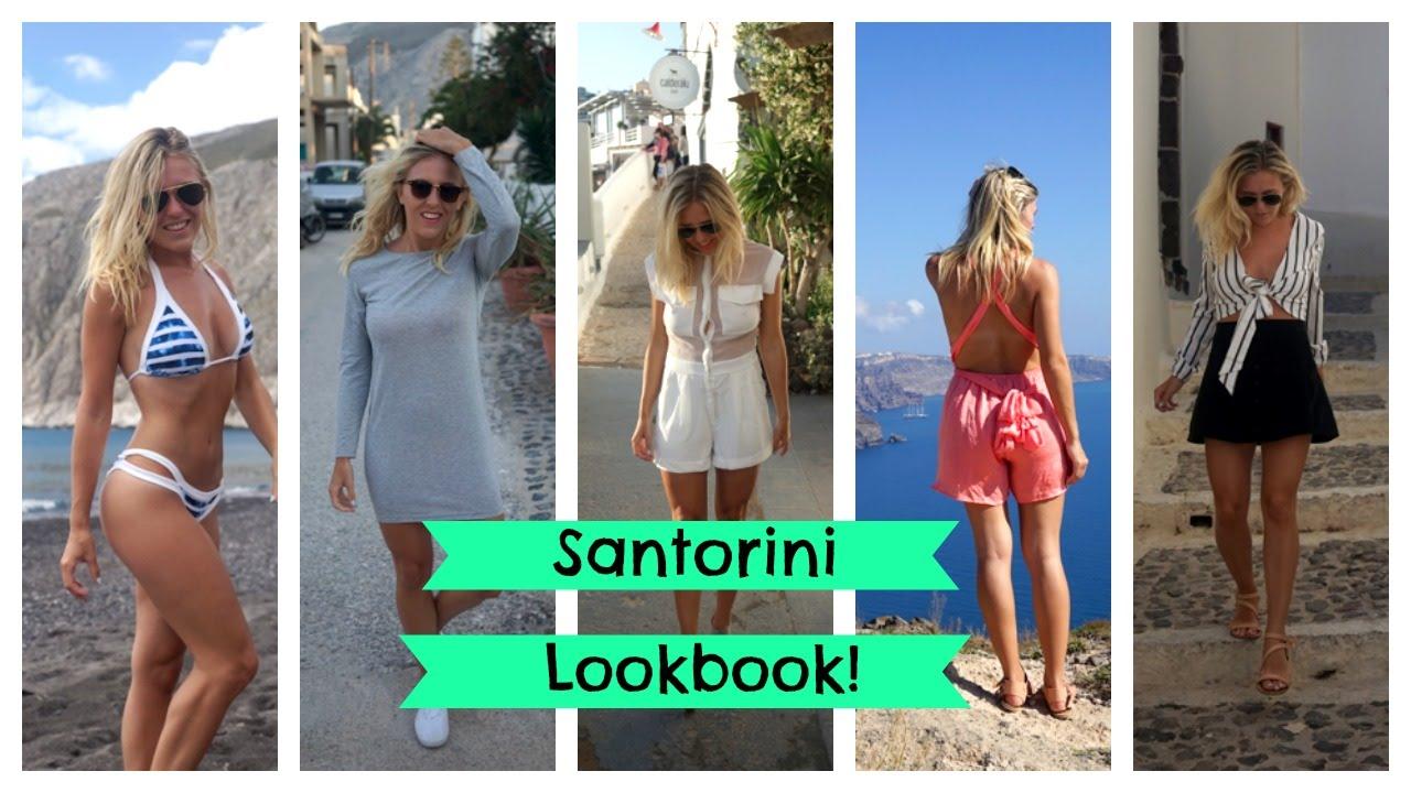 Santorini Greece Fashion Lookbook Holiday Style