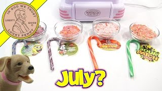 Christmas Cotton Candy In July!  SpongeBob, Sour Patch, Mickey Mouse & Red Hot Candy Canes
