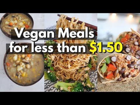 BUDGET Vegan Meals For UNDER $1.50