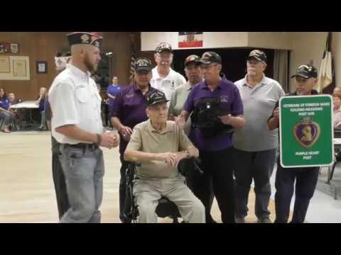 VFW Post 1475 Designated A Purple Heart Post In Amarillo