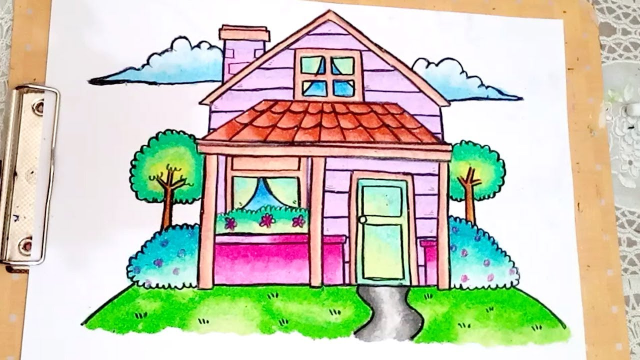 How To Draw And Coloring House For Kids EASY