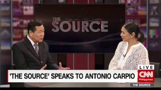 'The Source' speaks to Supreme Court Acting Chief Justice Antonio Carpio
