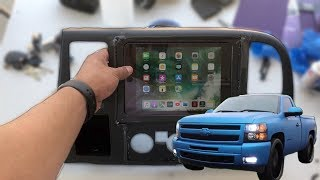HOW TO INSTALL AN IPAD IN A SINGLECAB SILVERADO PART 1