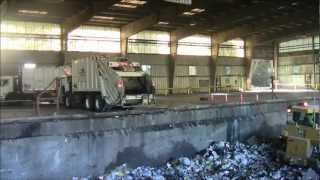 Unloading at the Lane County Transfer Station in Eugene, OR