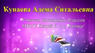Кунаева А. С.  Лицей 6  г.о. Химки Московской области