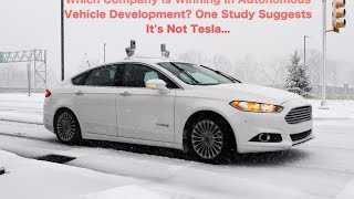 Which Company Is Winning In Autonomous Vehicle Development? One Study Suggests It's Not Tesla... thumbnail