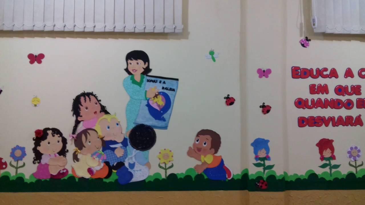 Decoração  sala de aula em eva  YouTube -> Decoracao Para Banheiro De Escola Em Eva