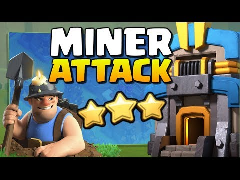 MINERS Attack Strategy: Watch This TH12 Get WRECKED! Queen Charge Miner 3 Star - Clash Of Clans!
