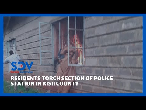 Section of Rioma Police Station in Kisii County set ablaze by angry residents
