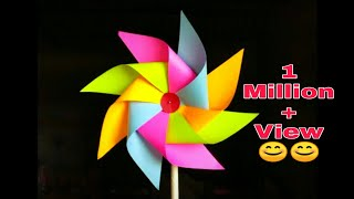 HOW TO MAKE PAPER WINDMILL DIY
