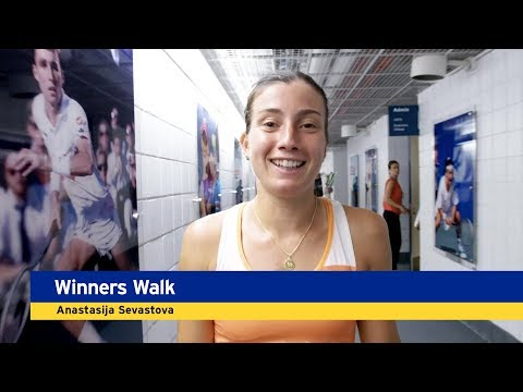 Winner's Walk, Presented by Emirates: Anastasija Sevastova, Quarterfinals