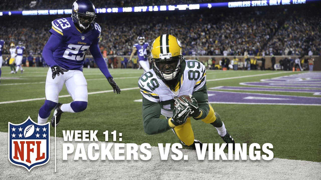 Aaron Rodgers James Jones Score A Td 2 Point Conversion Packers Vs Vikings Nfl Youtube