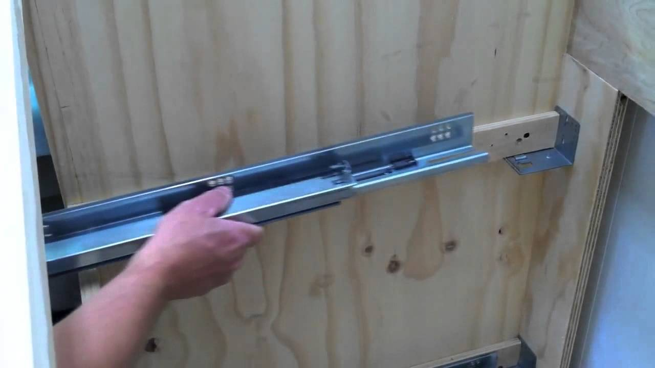 How To Install Blum Tandem Undermount Drawer Slides | Tiny House ...