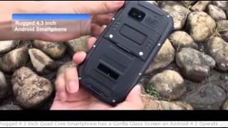 telefono impermeabile IP67 con schermo Gorilla Glass