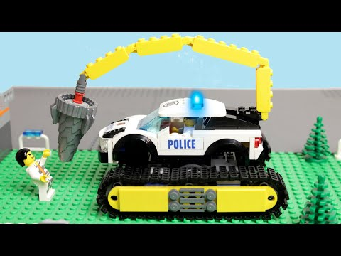 LEGO Experemental Cars and Lego Police car and Trucks Video for kids