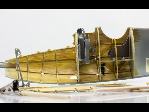 Painting Wood-Plywood Effects With Watercolors on Albatros D.V Scale Model