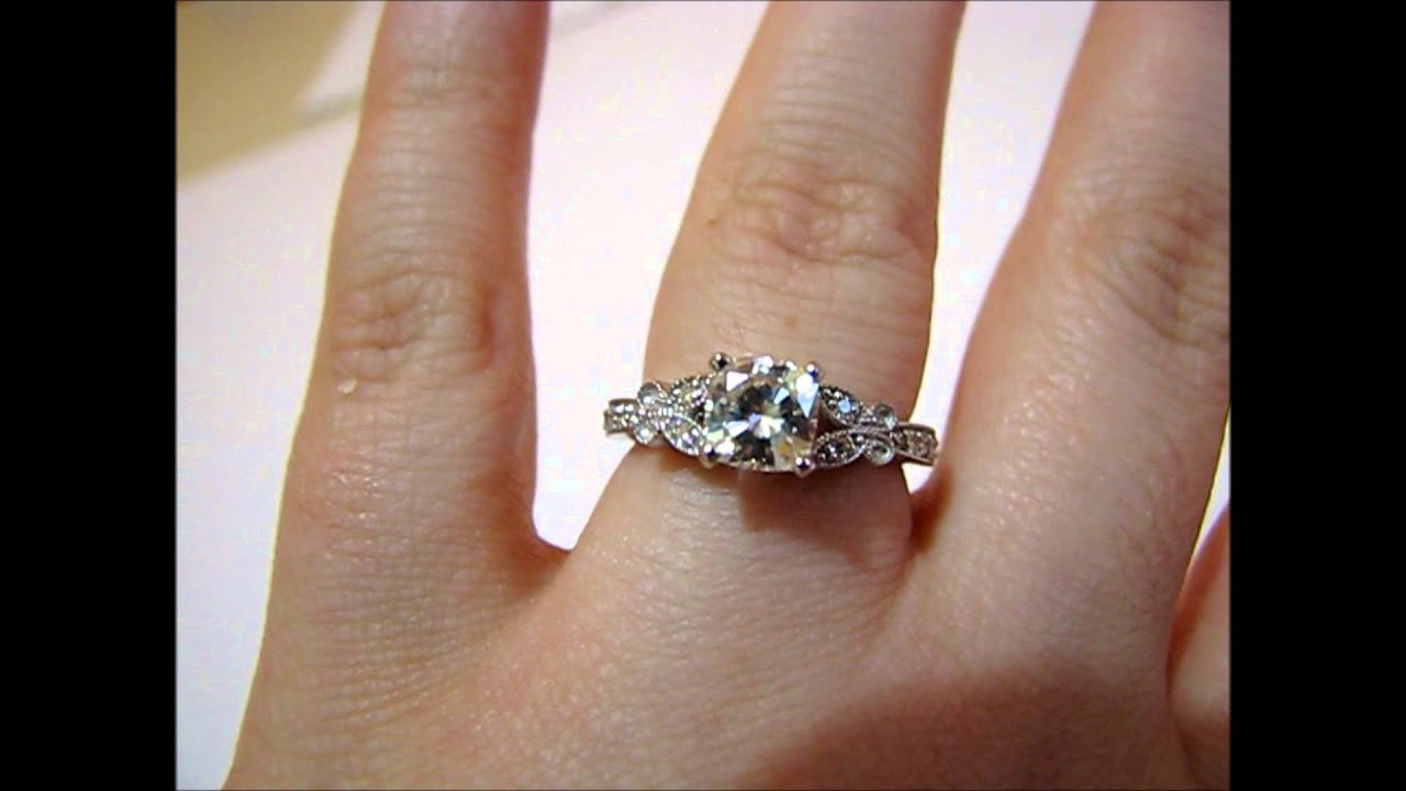 Favorite 6mm Cushion Cut Moissanite Ring - YouTube TA36
